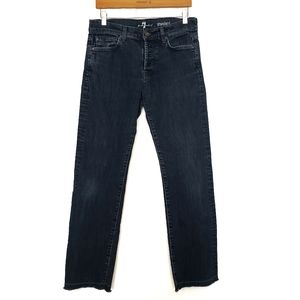 7 FOR ALL MANKIND FRAYED STANDARD JEANS SIZE 31